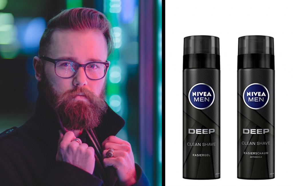 NIVEA MEN DEEP Clean Shave Rasiergel und Rasierschaum